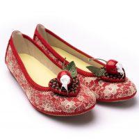 Diana Shoe with Strawbs & Cream Shoe Clip