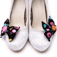Liquorice Shoe Clip with Isabel Shoe